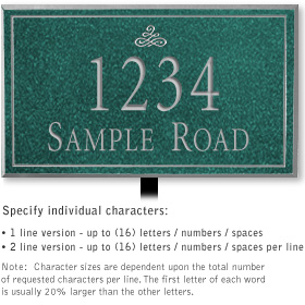 Salsbury 1412JSIL Signature Series Address Plaque