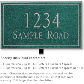 Salsbury 1412JSNL Signature Series Address Plaque