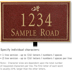 Salsbury 1412MGDL Signature Series Address Plaque