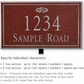 Salsbury 1412MSFL Signature Series Address Plaque