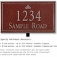 Salsbury 1412MSIL Signature Series Address Plaque