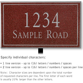 Salsbury 1412MSNL Signature Series Address Plaque