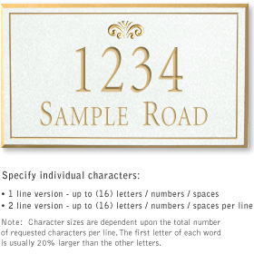 Salsbury 1412WGFS Signature Series Address Plaque
