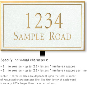 Salsbury 1412WGNL Signature Series Address Plaque