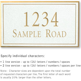 Salsbury 1412WGNS Signature Series Address Plaque