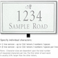 Salsbury 1412WSDL Signature Series Address Plaque