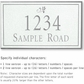 Salsbury 1412WSDS Signature Series Address Plaque