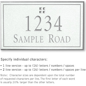 Salsbury 1412WSGS Signature Series Address Plaque