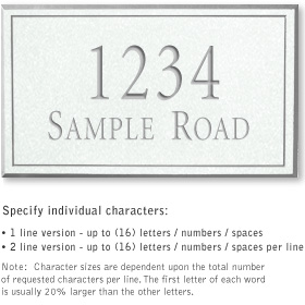 Salsbury 1412WSNS Signature Series Address Plaque