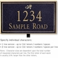 Salsbury 1411BGDL Signature Series Address Plaque