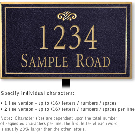 Salsbury 1411BGFL Signature Series Address Plaque
