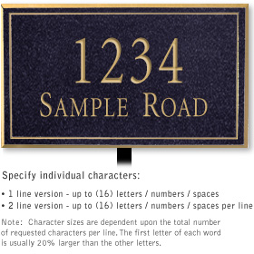 Salsbury 1411BGNL Signature Series Address Plaque