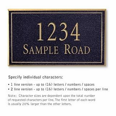 Salsbury 1411BGNS Signature Series Address Plaque