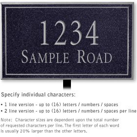 Salsbury 1411BSNL Signature Series Address Plaque