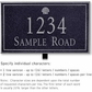 Salsbury 1411BSSL Signature Series Address Plaque