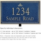 Salsbury 1411CGIL Signature Series Address Plaque
