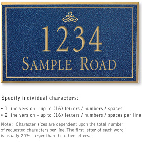 Salsbury 1411CGIS Signature Series Address Plaque