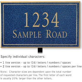 Salsbury 1411CGNL Signature Series Address Plaque