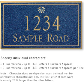 Salsbury 1411CGSS Signature Series Address Plaque