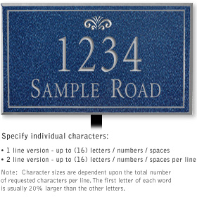Salsbury 1411CSFL Signature Series Address Plaque