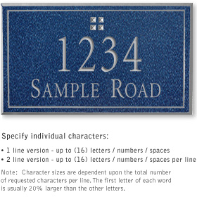 Salsbury 1411CSGS Signature Series Address Plaque