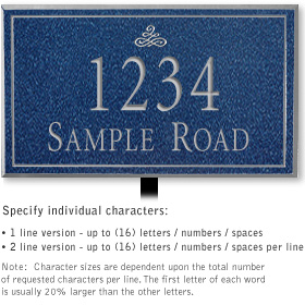 Salsbury 1411CSIL Signature Series Address Plaque