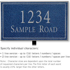 Salsbury 1411CSNL Signature Series Address Plaque