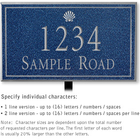 Salsbury 1411CSSL Signature Series Address Plaque