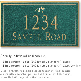 Salsbury 1411JGDS Signature Series Address Plaque