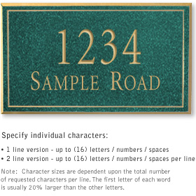 Salsbury 1411JGNS Signature Series Address Plaque