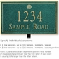 Salsbury 1411JGSL Signature Series Address Plaque