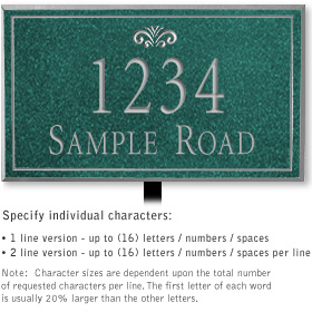 Salsbury 1411JSFL Signature Series Address Plaque