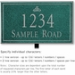 Salsbury 1411JSIL Signature Series Address Plaque