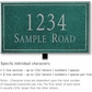 Salsbury 1411JSNL Signature Series Address Plaque