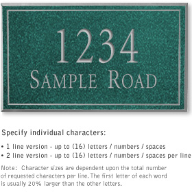 Salsbury 1411JSNS Signature Series Address Plaque