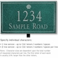 Salsbury 1411JSSL Signature Series Address Plaque