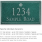 Salsbury 1411JSSS Signature Series Address Plaque
