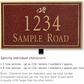Salsbury 1411MGDL Signature Series Address Plaque