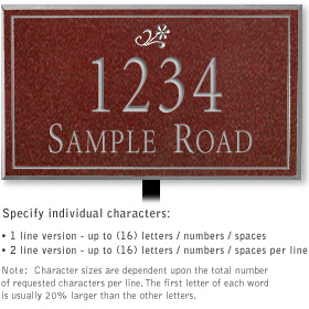 Salsbury 1411MSDL Signature Series Address Plaque