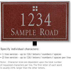 Salsbury 1411MSGL Signature Series Address Plaque