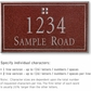 Salsbury 1411MSGS Signature Series Address Plaque