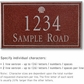 Salsbury 1411MSSS Signature Series Address Plaque