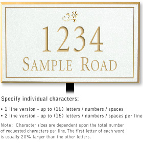 Salsbury 1411WGDL Signature Series Address Plaque