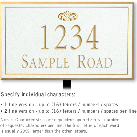 Salsbury 1411WGFL Signature Series Address Plaque
