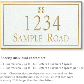 Salsbury 1411WGGS Signature Series Address Plaque