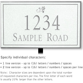 Salsbury 1411WSDL Signature Series Address Plaque