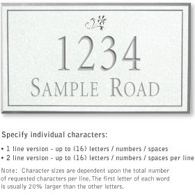 Salsbury 1411WSDS Signature Series Address Plaque