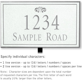 Salsbury 1411WSFL Signature Series Address Plaque