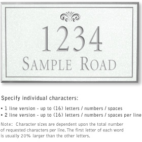 Salsbury 1411WSFS Signature Series Address Plaque