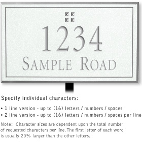Salsbury 1411WSGL Signature Series Address Plaque
